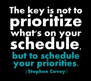 Schedule-priorities